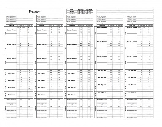 Excel Training Designs u2013 FAST EASY AFFORDABLE - workout program sheet