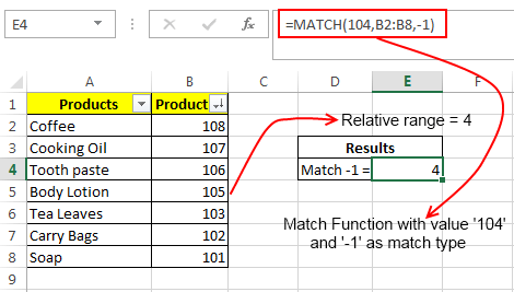 Match Formula Example 2
