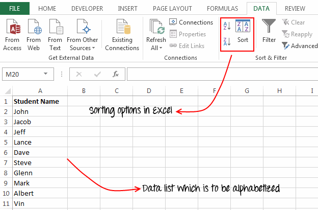 Sort Option In Excel