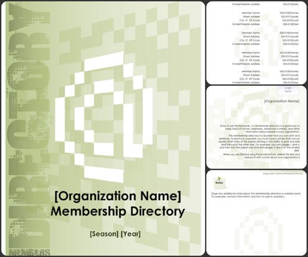Membership Directory Template Excel  Word Templates - directory template excel