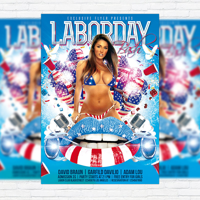 Labor Day Bash \u2013 Premium Flyer Template + Facebook Cover - labour day flyer template