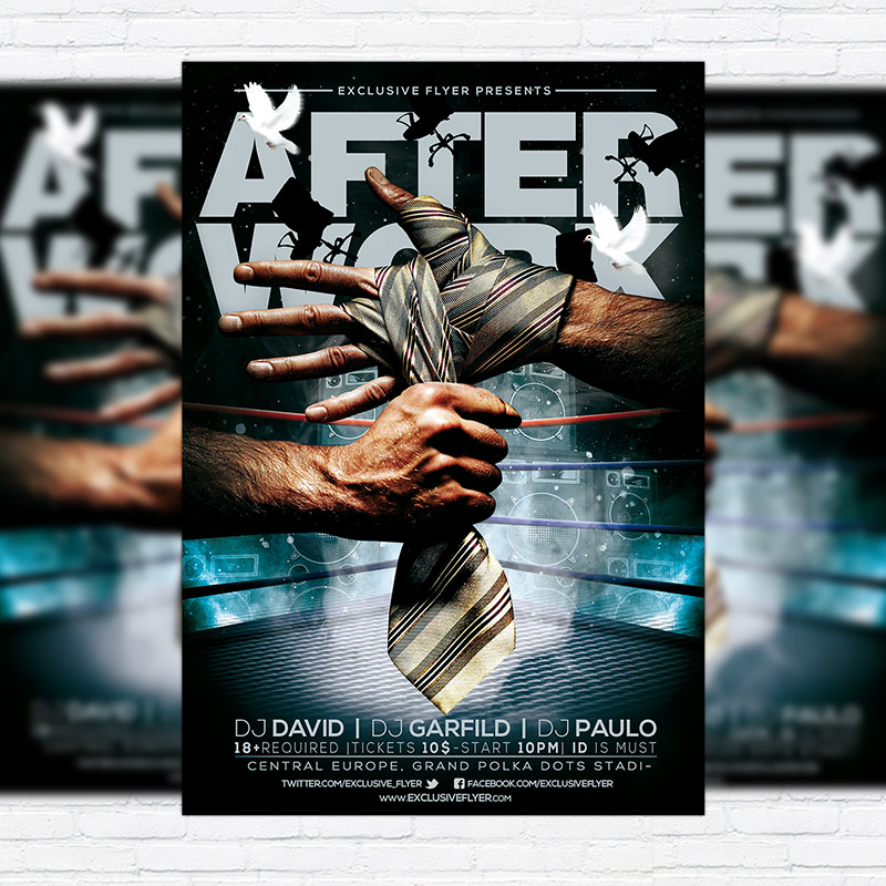 After Work \u2013 Premium PSD Flyer Template ExclsiveFlyer Free and