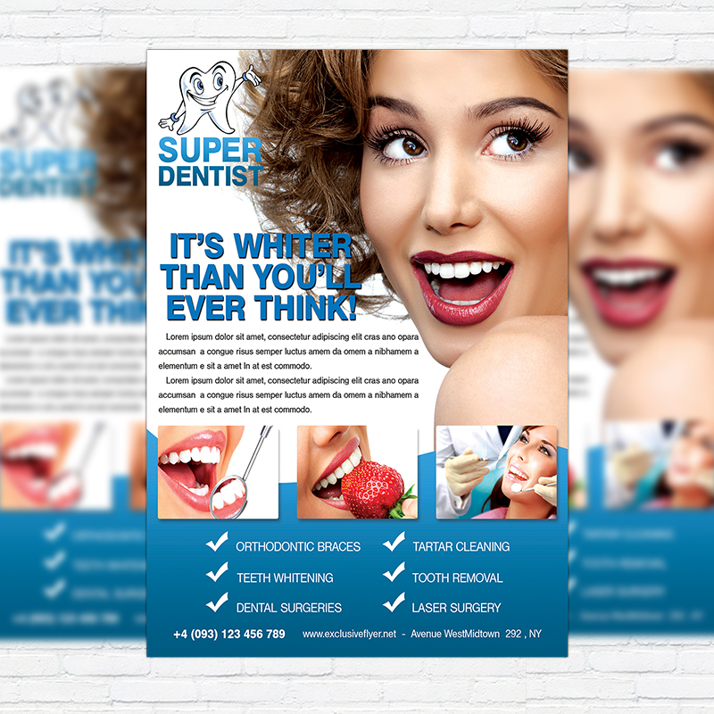 Dental Clinic \u2013 Free Club and Party Flyer PSD Template