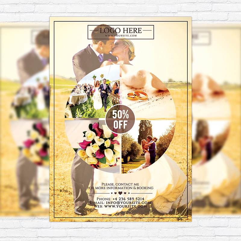 Wedding Photography \u2013 Premium Flyer Template ExclsiveFlyer Free - wedding flyer