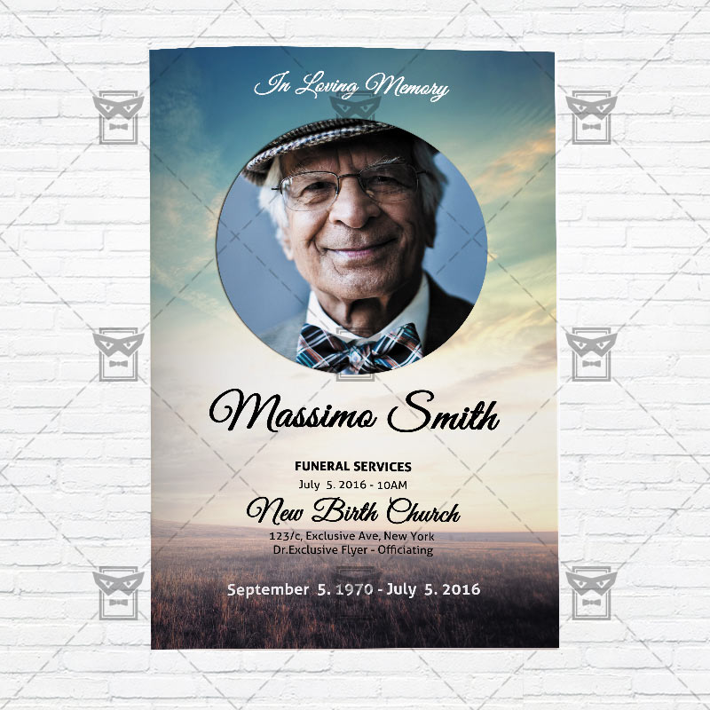 Beautiful Funeral Poster Templates Composition - Administrative