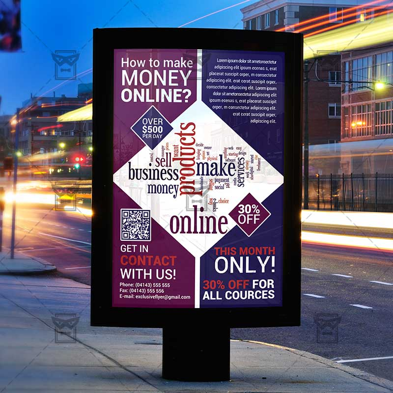 Make Money Online \u2013 Premium Flyer Template ExclsiveFlyer Free - how to make online flyers