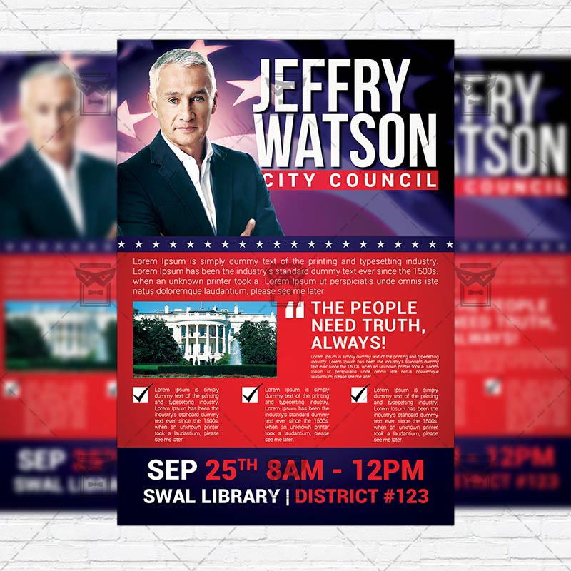 Political Election \u2013 Premium Flyer Template ExclsiveFlyer Free