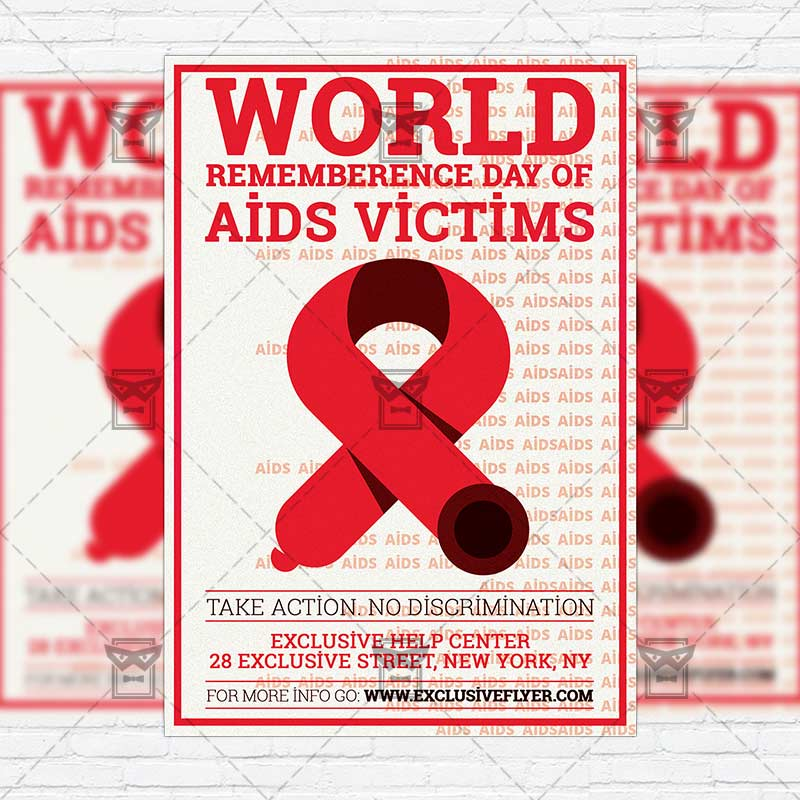 World Remembrance Day of AIDS Victims \u2013 Premium Flyer Template +