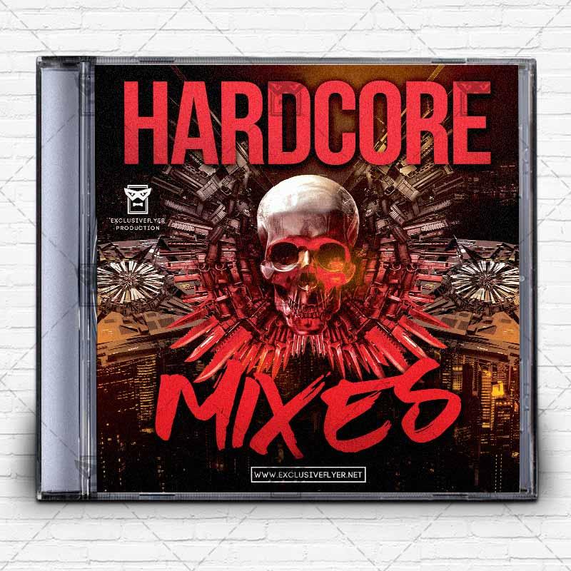 Hardcore Music \u2013 Premium Mixtape Album CD Cover Template