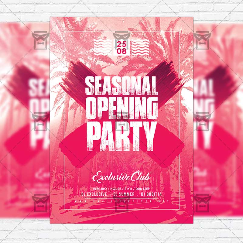 Season Opening Party \u2013 Premium Flyer Template + Instagram Size Flyer