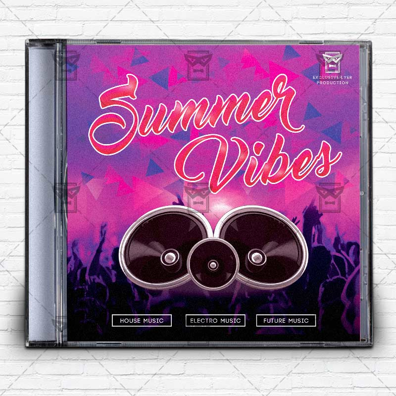 Summer Vibes \u2013 Free Mixtape Album CD Cover Template ExclsiveFlyer