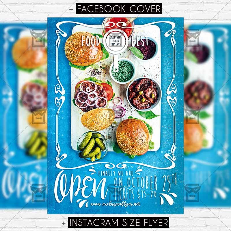 Food Festival \u2013 Premium PSD Flyer Template ExclsiveFlyer Free - food flyer template