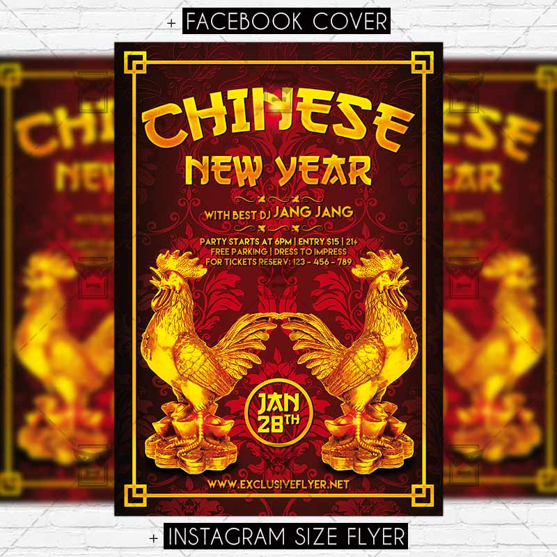 Chinese New Year \u2013 Premium Flyer Template ExclsiveFlyer Free and - new year poster template