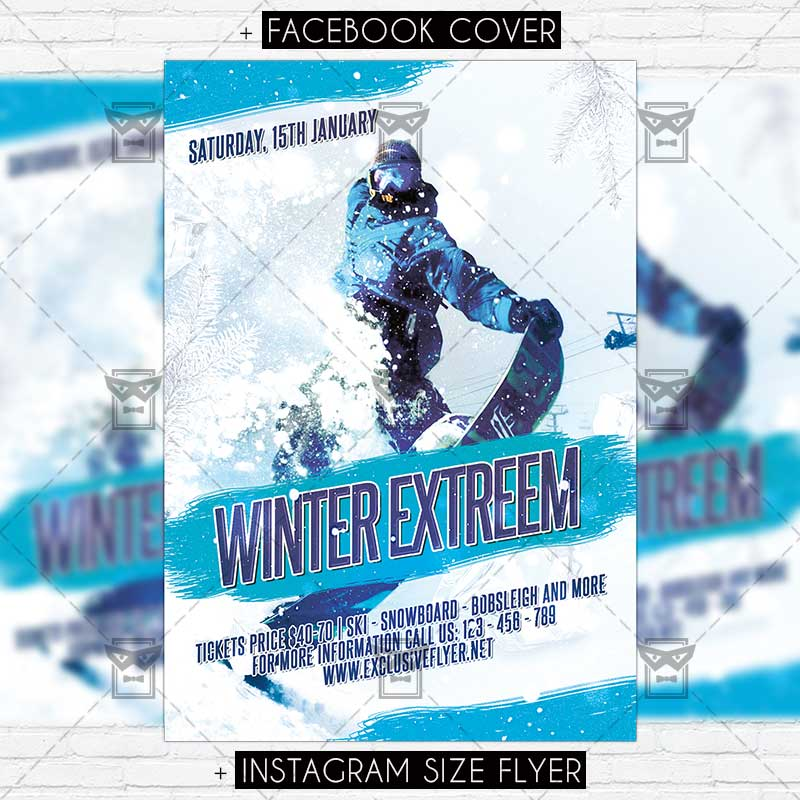 Winter Extreem \u2013 Premium Flyer Template ExclsiveFlyer Free and