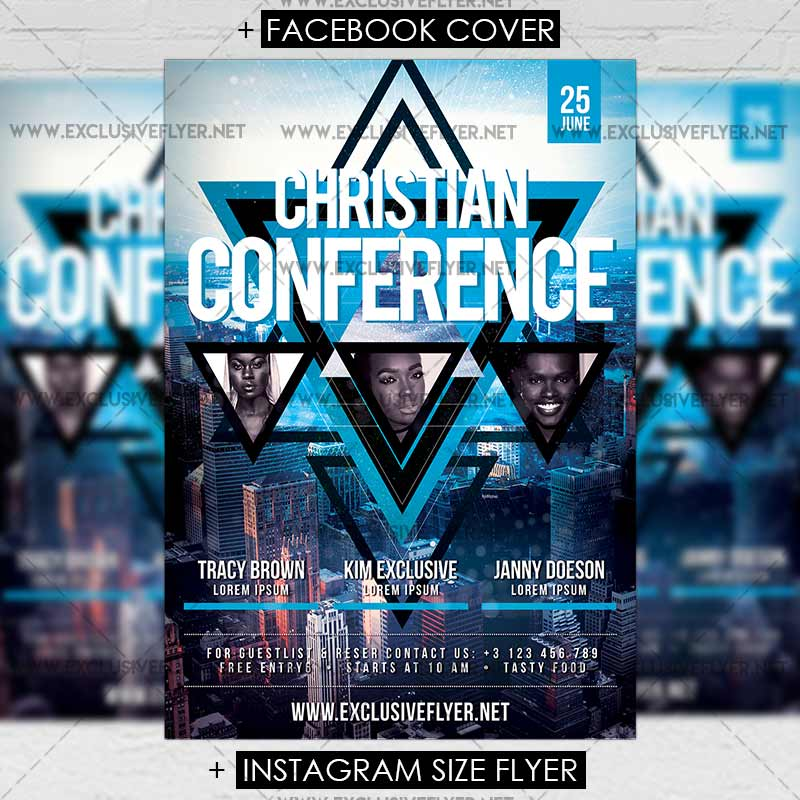 Christian Conference \u2013 Premium A5 Flyer Template ExclsiveFlyer