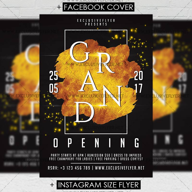 Grand Opening \u2013 Premium A5 Flyer Template ExclsiveFlyer Free and