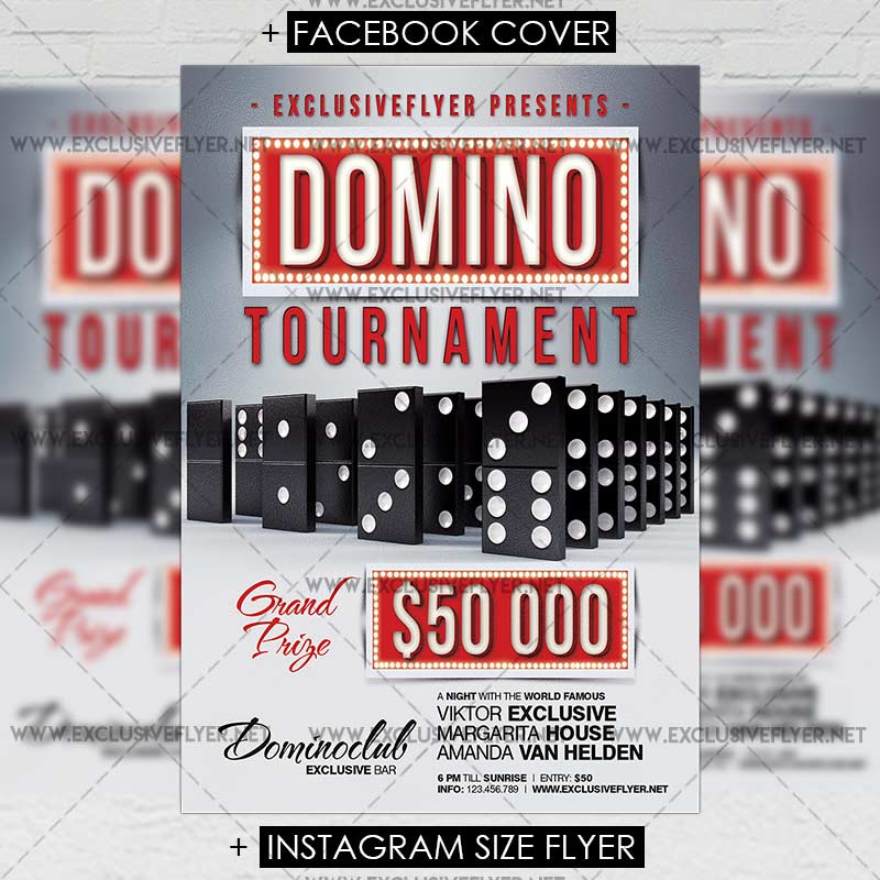 Domino Tournament \u2013 Premium A5 Flyer Template ExclsiveFlyer Free