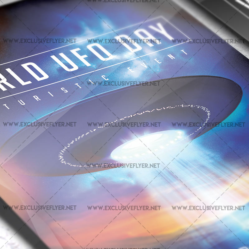 World UFO Day \u2013 Premium A5 Flyer Template ExclsiveFlyer Free and