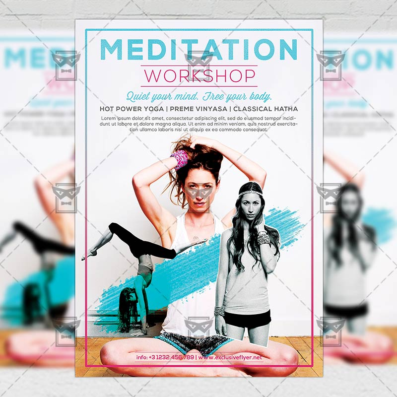 Meditation \u2013 Premium A5 Flyer Template ExclsiveFlyer Free and