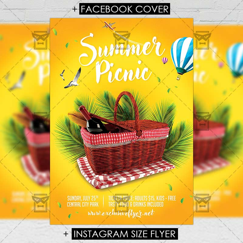 Picnic \u2013 Premium A5 Flyer Template ExclsiveFlyer Free and - picnic flyer template