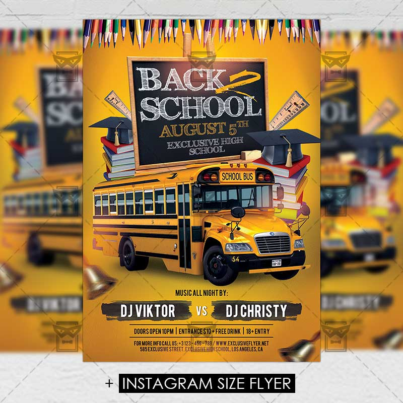 Back 2 School \u2013 Premium A5 Flyer Template ExclsiveFlyer Free and - back to school flyers