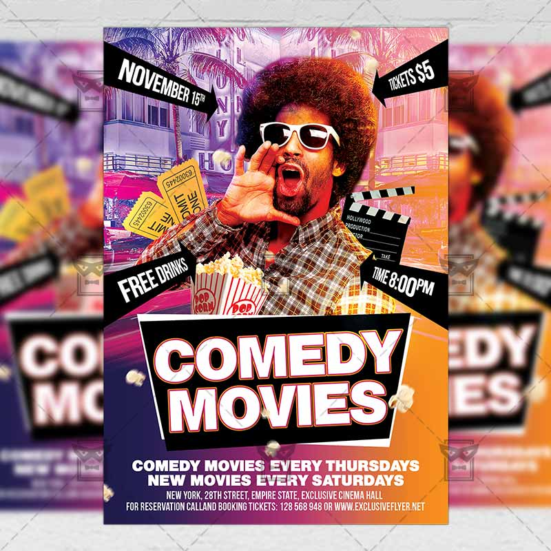 comedy poster template - 28 images - comedy community a5 flyer - comedy show flyer template
