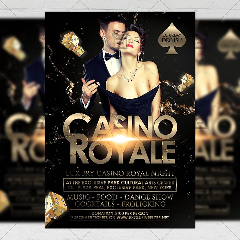 Casino Royale \u2013 Sport A5 Flyer Template ExclsiveFlyer Free and