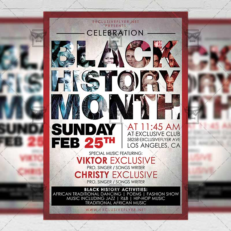 Black History Month \u2013 Community A5 Flyer Template ExclsiveFlyer
