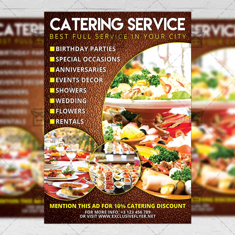 Catering \u2013 Food A5 Flyer Template ExclsiveFlyer Free and Premium - food flyer template