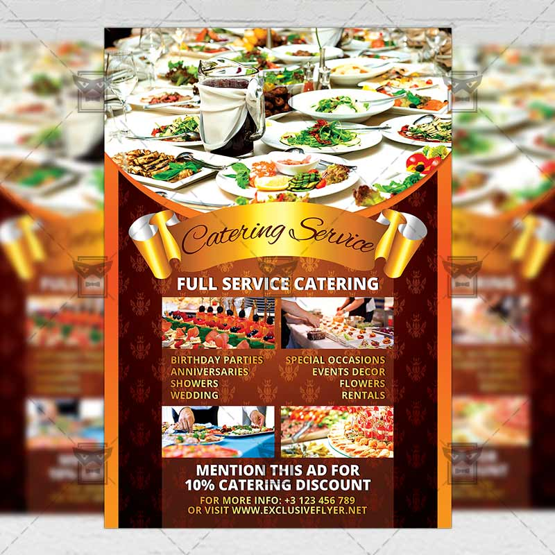 Catering Service \u2013 Food A5 Flyer Template ExclsiveFlyer Free and