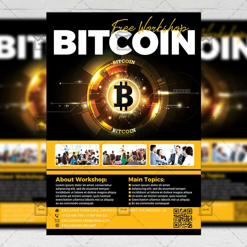 Bitcoin Workshop Flyer \u2013 Business A5 Template ExclsiveFlyer Free