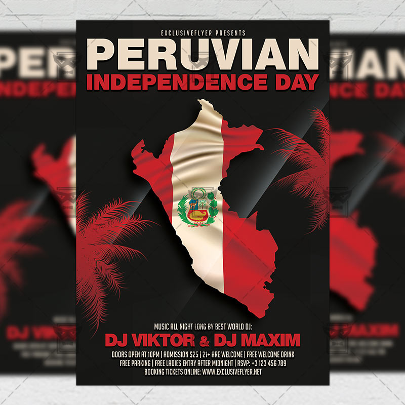 Peruvian Independence Day Flyer \u2013 Club A5 Template ExclsiveFlyer