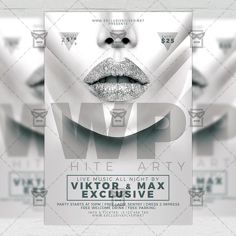 White Party \u2013 Club A5 Flyer Template ExclsiveFlyer Free and