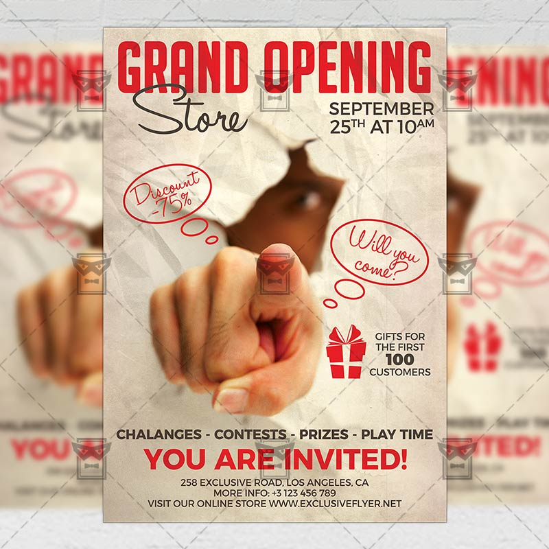 Grand Opening Flyer \u2013 Club A5 Template ExclsiveFlyer Free and