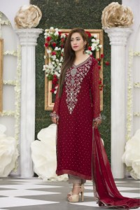 EXCLUSIVE MAROON BRIDAL DRESS - Exclusive Online Boutique