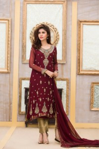 EXCLUSIVE BRIDAL STYLISH MAROON COLOR DRESS - Exclusive ...