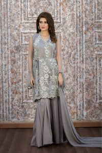 EXCLUSIVE GREY PARTY WEAR - ZZS37 - Exclusive Online Boutique