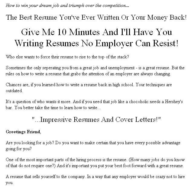 How To Write Impressive Resumes and Cover Letters Plr Ebook - what not to put in a resumes