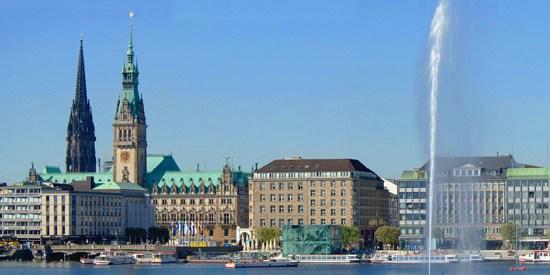 Hamburg Panorama / Alster / alster lake