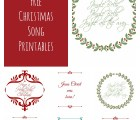 christmas song printables