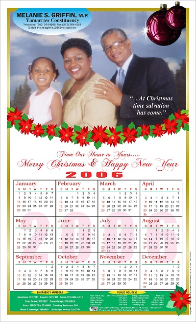 Executive Printers of the Bahamas - Calendars - Personalized Calendars