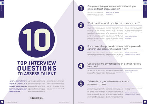 Ten top interview questions to assess talent Resourcing HR Grapevine
