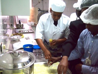 Tutoring the Executive Catering Staff at the Central Bank of Nigeria