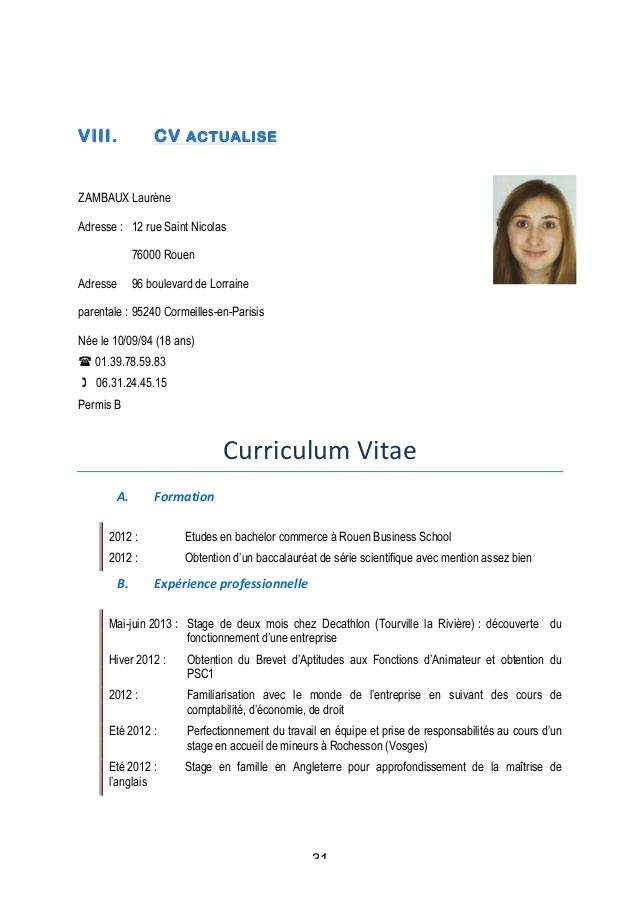 cv decathlon job ete