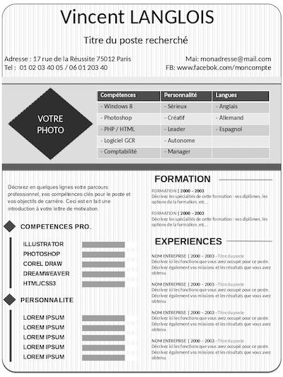 competences cv formateur