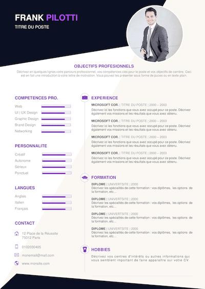 exemple de cv detaille pdf