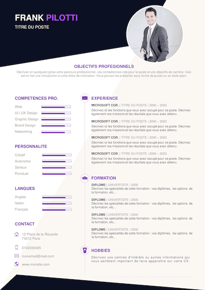 exemple cv detaille pdf