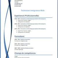 Exemple de cv info exemples et mod les gratuits - Telecharger open office gratuitement sans virus ...