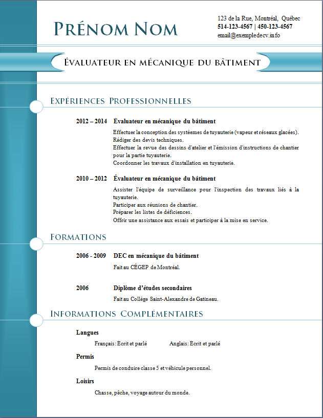insertion photo cv word
