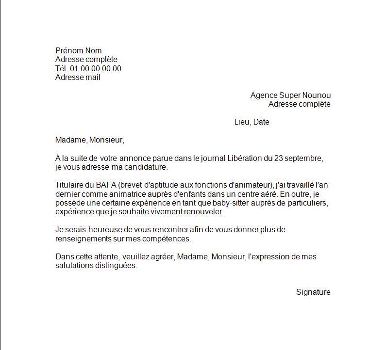 lettre motivation pour cv